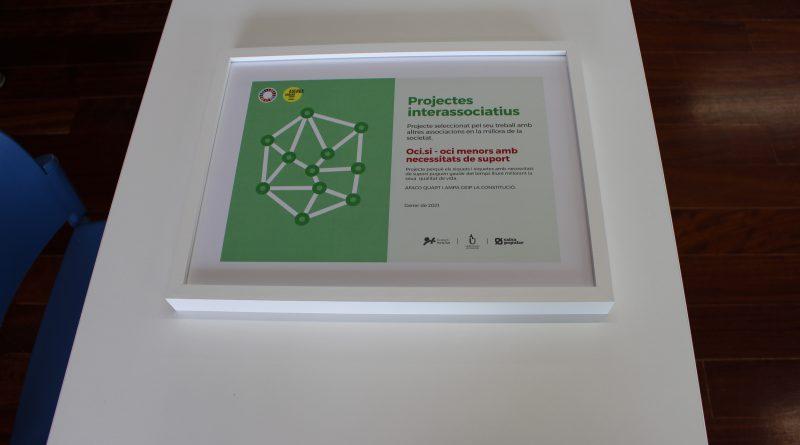 Recibimos el premio de los proyectos interasociativos por OCI.SI.